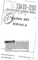 Cover of: Radio Set 555-A